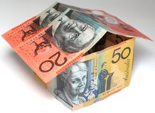 Casa australiana dei soldi Fotografie Stock Libere da Diritti