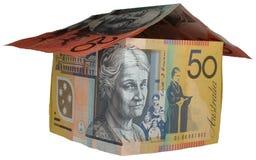 Casa australiana dei soldi Fotografia Stock Libera da Diritti