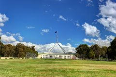 Casa australiana del parlamento nacional en Canberra Imágenes de archivo libres de regalías