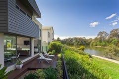 Casa australiana moderna immagini stock
