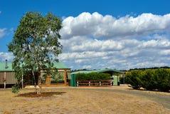Casa australiana típica do campo fotografia de stock