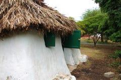 Casa auxiliar anterior en el Caribe Foto de archivo