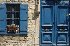 Casa azul Fotografia de Stock Royalty Free