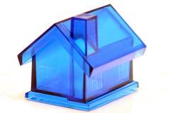 Casa azul Imagem de Stock Royalty Free