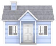 Casa azul Foto de archivo libre de regalías