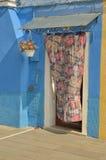 Casa azul Imagens de Stock Royalty Free