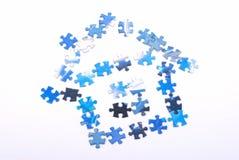 casa azul Imagens de Stock