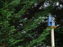 Casa azul del pájaro Fotos de archivo libres de regalías