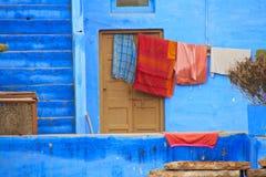 Casa azul - Jodhpur Imágenes de archivo libres de regalías