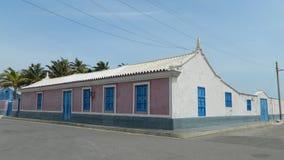 Casa Azul-Rosada Fotos de archivo libres de regalías