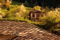 Casa búlgara del abandone Foto de archivo
