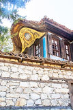 Casa búlgara tradicional velha Foto de Stock Royalty Free