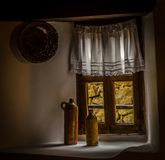 Casa búlgara velha de Тraditional em Koprivshtica, Bulgária Fotografia de Stock