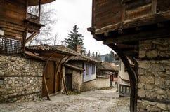 Casa búlgara velha de Тraditional em Koprivshtica, Bulgária Imagens de Stock