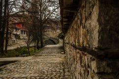 Casa búlgara vieja de Тraditional en Koprivshtica, Bulgaria Imagenes de archivo