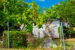 Casa Baía-abandonada ocidental foto de stock royalty free