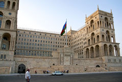 Casa Bacu centrale Azerbaijan di governo fotografia stock