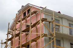 casa bajo construcción Fotos de archivo libres de regalías