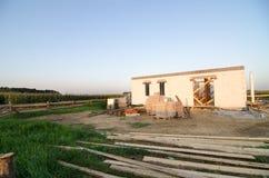 Casa bajo construcción, solar Fotos de archivo