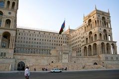 Casa baku central azerbaijan do governo foto de stock