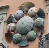 Casa Barcelona do guarda-chuva fotos de stock