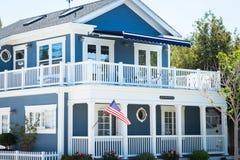 Casa barco azul - Coronado, San Diego los E.E.U.U. imagen de archivo libre de regalías