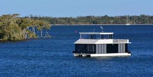 Casa barco en Gold Coast Queensland Australia Imagen de archivo