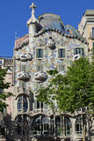 Casa Batlló, Barcelona. Casa Batlló is a renowned building located in the center of Barcelona, Spain, and is one of Antoni Gaudí's masterpieces stock photography