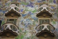 Casa Batllà ³ door Gaudi in Barcelona Stock Afbeeldingen