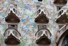 Casa Batllò facade, Barcelona. Spain. Masterpiece of the modernist architect Antoni Gaudi Royalty Free Stock Photos