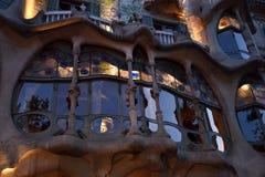 Casa Batlló, Βαρκελώνη, που σχεδιάζεται από το Antonio Gaudi στοκ φωτογραφίες