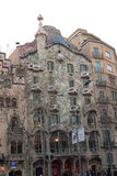 Casa Batlló in Barcelona. Casa Batlló is the result of a total restoration in 1904 of an old conventional house built in 1877.  Gaudí used for it the typical Royalty Free Stock Image