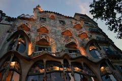Casa Batlló, Barcelona som planläggs av Antonio Gaudi Arkivfoto
