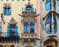 Casa Batlló and Casa Amatller in Barcelona, Spain. Stock Photography