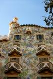 Casa Batlló, door Gaudí. Barcelona Stock Foto's