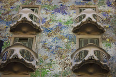 Casa Batlló by Gaudi in Barcelona Stock Images