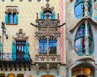 Casa Batlló and Casa Amatller in Barcelona, Spain. Stock Photography