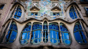 Casa Batllo, νεωτεριστικό μουσείο του Antoni Gaudà στη Βαρκελώνη στοκ φωτογραφία με δικαίωμα ελεύθερης χρήσης