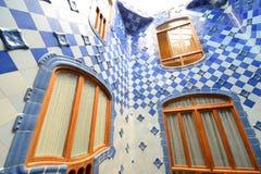 Casa Batllo, περιοχή Eixample, Βαρκελώνη, Ισπανία Στοκ εικόνα με δικαίωμα ελεύθερης χρήσης