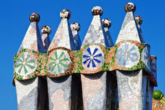 Casa batllo. Details from casa Batllo designed by Gaudi stock photos