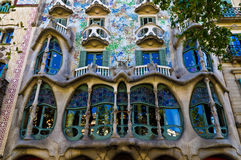 Casa Batllo. Antonio Gaudi most famous creation royalty free stock photo