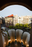 Casa Batllo aerial of Eiaxample district buildings Stock Photo