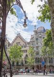 Casa Batllo and Amatller, in Barcelona, Spain Royalty Free Stock Image