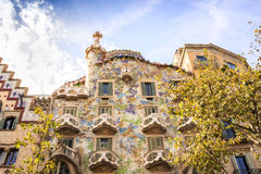 Casa Batllo by Antoni Gaudi in Barcelona, Spain Royalty Free Stock Image