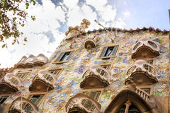 Casa Batllo by Antoni Gaudi in Barcelona, Spain Royalty Free Stock Photography