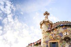 Casa Batllo by Antoni Gaudi in Barcelona, Spain Stock Photography