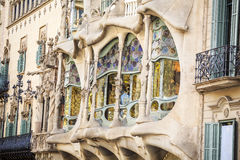 Casa Batllo by Antoni Gaudi in Barcelona, Spain Royalty Free Stock Photos