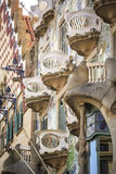 Casa Batllo by Antoni Gaudi in Barcelona, Spain Stock Photos