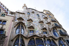 Casa Batllo by Antoni Gaudi Royalty Free Stock Images