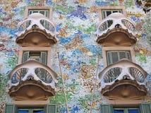 Casa Batllo av Antoni Gaudi Royaltyfria Bilder